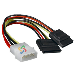 Cable S-SATA power doble oem